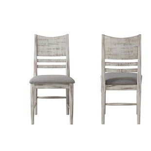 Bemadette Rustic Panel Back Side Chair (Set of 2) Gracie Oaks