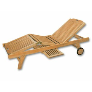 Neche Reclining Sun Lounger With Table Image