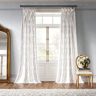 Euphony Damask Sheer Rod Pocket Single Curtain Panel