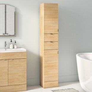 30 X 194cm Free Standing Tall Bathroom Cabinet By Hudson Reed
