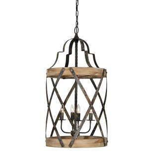 Gracie Oaks Barnsdall 4-Light Lantern Pendant