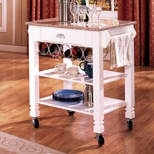 Kitchen Cart with Marble Top Bernards