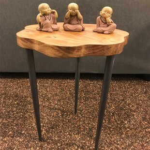 Hallee Flower End Table by Gracie Oaks