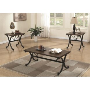 Sheron 3 Piece Coffee Table Set