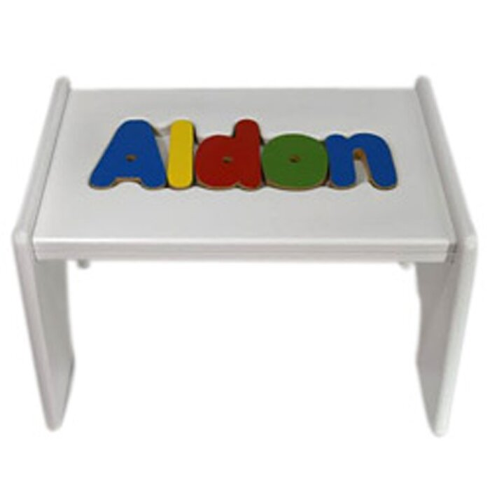 Pleasing Tillman Child Wooden Puzzle Personalized Step Stool Gmtry Best Dining Table And Chair Ideas Images Gmtryco