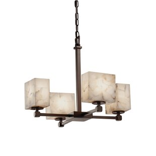Conovan 4-Light Shaded Chandelier by Rosecliff Heights
