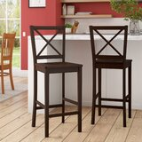 Powe Cross Back 24 Bar Stool (Set of 2) by Andover Mills™