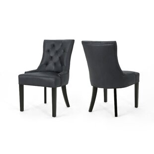 Wynsum Traditional Upholstered Dining Chair (Set of 2) by Alcott Hill