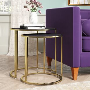 Flemingdon 2 Piece Nesting Tables by Everly Quinn