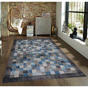 Bennet Gray/Blue Indoor/Outdoor Area Rug