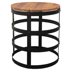 Mateus Teak End Table by 17 Stories