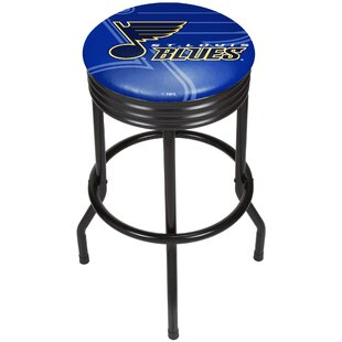 NHL Ribbed 28.5 Swivel Bar Stool by Trademark Global Sale