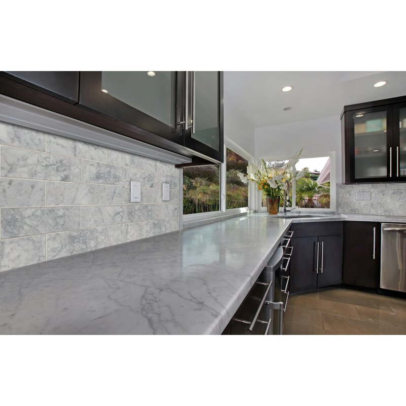 Polished Marble Tile In Carrara White