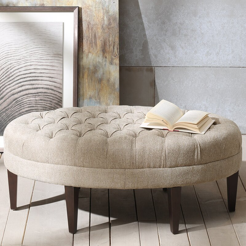 Superior Round Ottoman Coffee Table Part - 2: Alvara Upholstered Ottoman