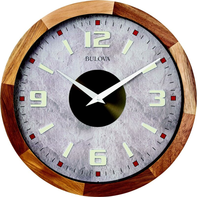 Bulova Parkland 16 Wall Clock Wayfair