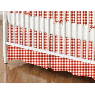Primary Gingham Woven Crib Skirt BySheetworld