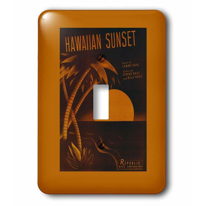 3drose Hawaiian Sunset Tropical Sunset 1 Gang Toggle Light Switch Wall Plate Wayfair