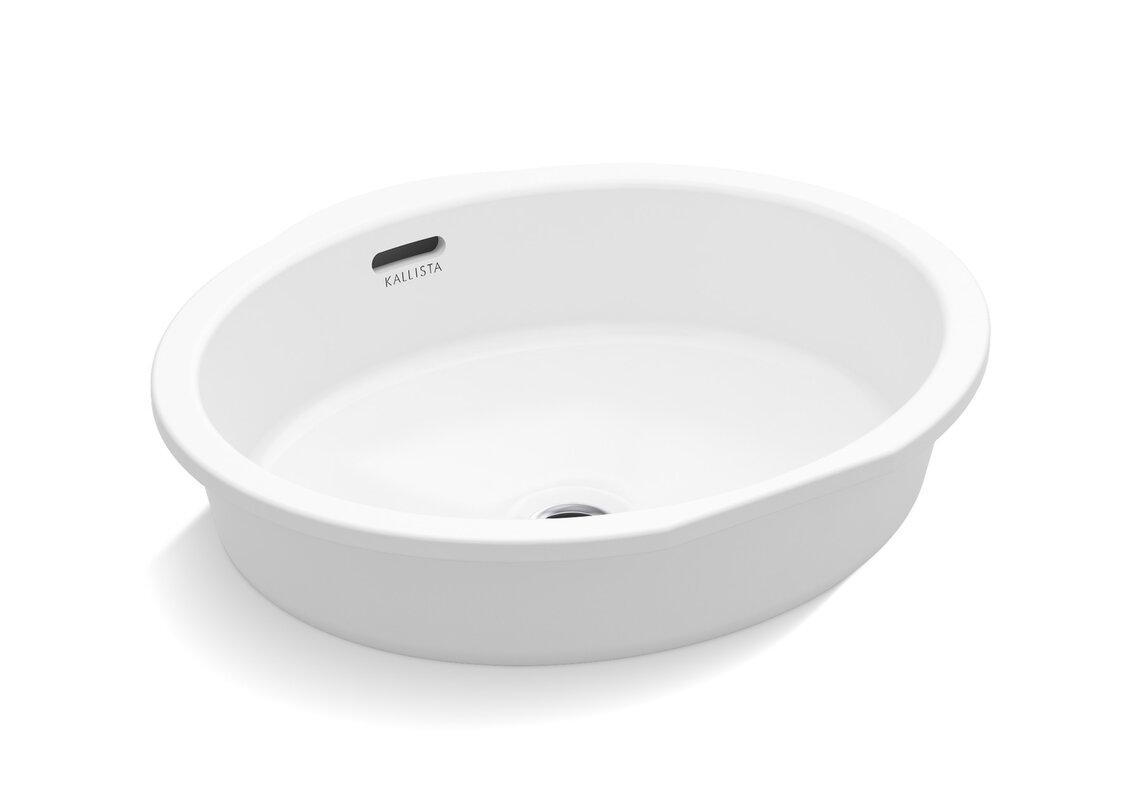 Kallista Perfect Centric Oval Undermount Sink with Overflow ...