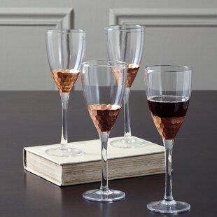 Lopez 12 oz. Crystal Stemmed Wine Glass (Set of 4)