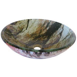 Cullare Glass Circular Vessel Bathroom Sink Novatto