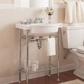 Retrospect Ceramic Specialty Console Bathroom Sink With Overflow Reviews Birch Lane