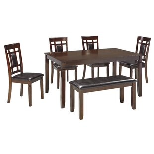 Leger 6 Piece Dining Set by Millwood Pines No Copoun