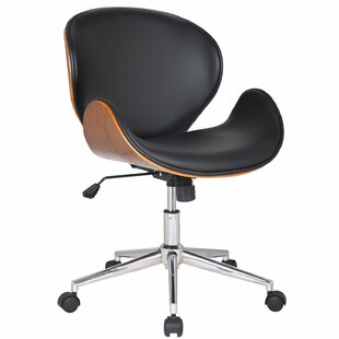 Adeco Trading Bentwood Mid-Back Desk Chair