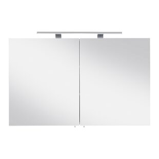 Viva 100cm X 62cm Surface Mount Mirror Cabinet With LED Lighting By Belfry Bathroom