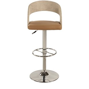 Mclaurin Adjustable Height Swivel Bar Stool by George Oliver