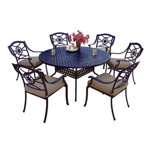 Alcott Hill Thompsontown 7 Piece Dining Set with Cushions