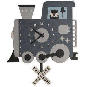 office large size floor clocks wayfair. Train Pendulum Wall Clock Office Large Size Floor Clocks Wayfair
