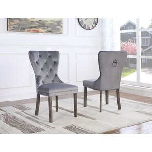 Thame Upholstered Dining Chair (Set Of 2) by Everly Quinn 2019 Sale