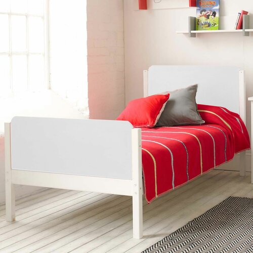 Dasia Single Sleigh Frame Bed Isabelle & Max Colour (Bed Frame): White