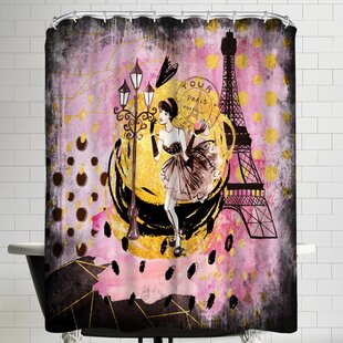 Grab My Art Fashion Girl In Paris Single Shower Curtain