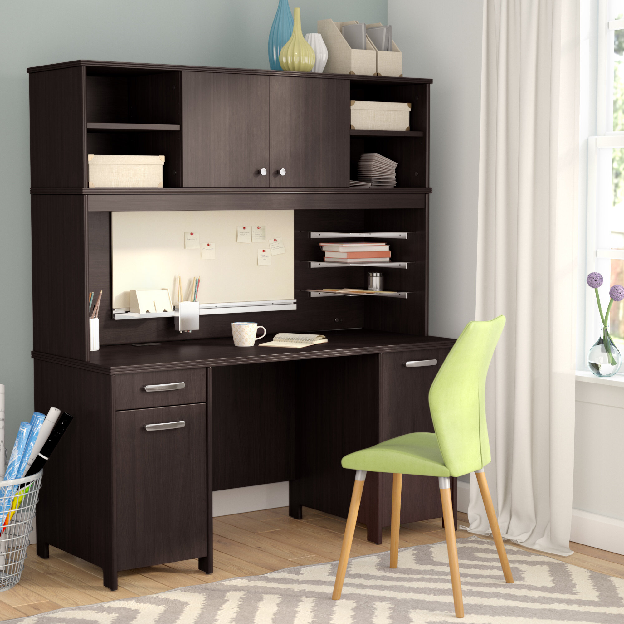 furniture sedona hom desks desk hutch with drawers and without computer