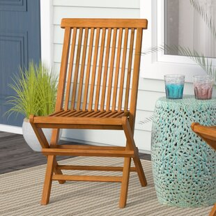 Millbrook Folding Teak Patio Dining Chair (Set of 2)