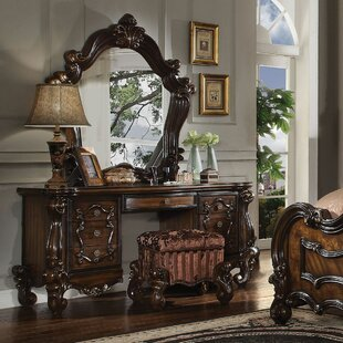 Tanner Vanity Set with Mirror by Astoria Grand
