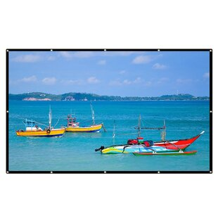 Excelvan Collapsible White 120 Portable Projection Screen by LANGRIA