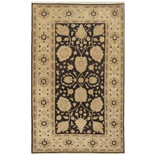 One-of-a-Kind Sultanabad Fine Hand-Knotted Wool Black/Beige Indoor Area Rug Mansour