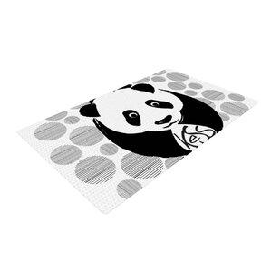 Panda Novelty Black/White Outdoor Area Rug