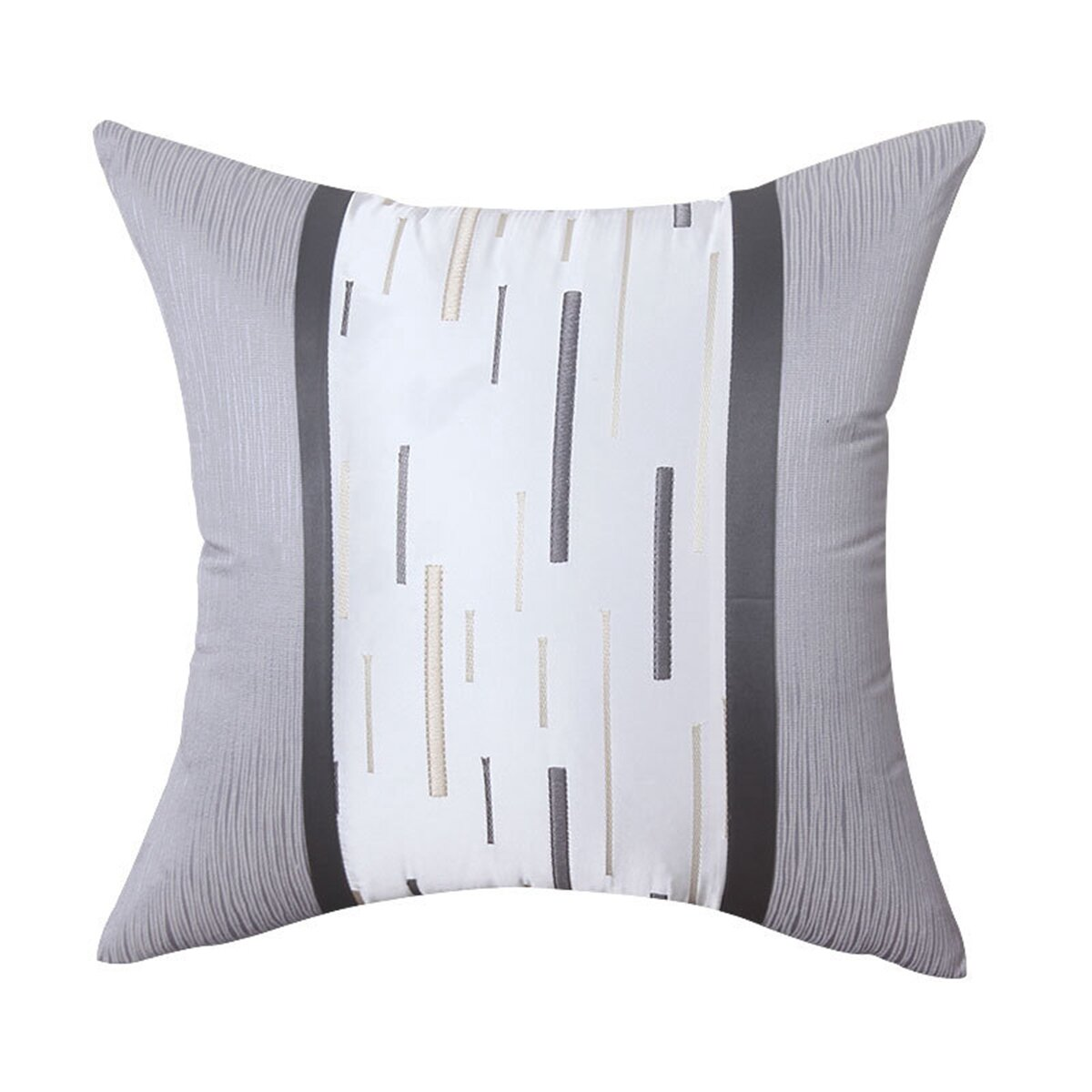 """Luxury Embroidered Cotton & Silk Cushion Pillow, Home Decorative Pillow  Covers Classic Pillows Throw Pillows Covers Grey and White 10"""" x 10"""""""