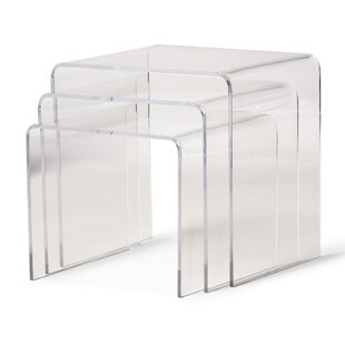 Brierly Clear Acrylic 3 Piece Nesting Tables by Orren Ellis