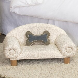 Carrie Decorative Dog Sofa with Curved Back
