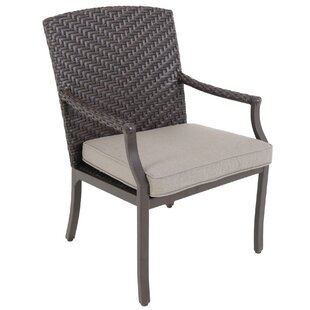 Kanzler Patio Dining Chair with Cushion (Set of 2) by Red Barrel Studio