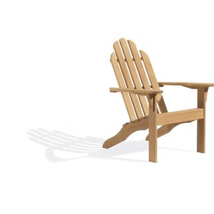 Coronel Wood Adirondack Chair by Highland Dunes Great price
