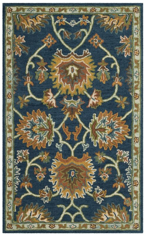Perfect Cranmore Hand Tufted Brown/Blue Area Rug