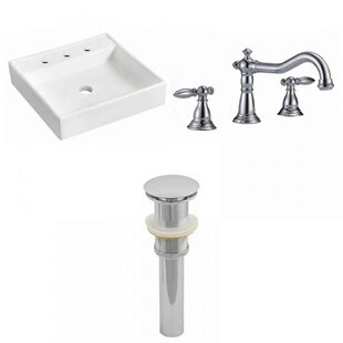 Top Reviews Ceramic 17.5 Wall Mount Bathroom Sink with Faucet ByRoyal Purple Bath Kitchen