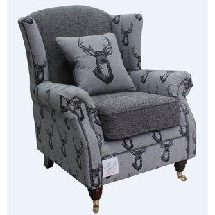 Barbara Antler Stag Wingback Chair By Union Rustic