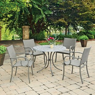 Cottonwood Concrete Stenciled 5 Piece Dining Set