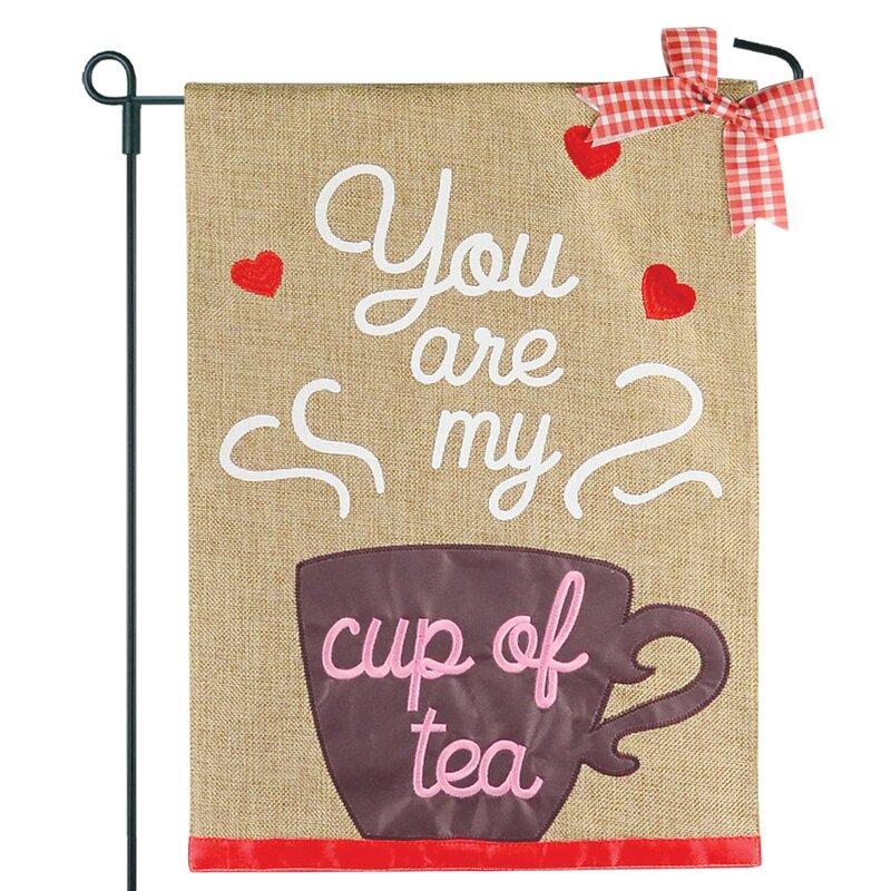 Jec Home Goods Cup Of Tea 2 Sided Burlap 18 X 13 In Garden Flag Wayfair
